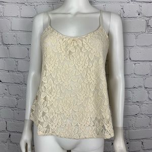 Anthropologie Pins And Needles Women's Ivory Lace